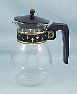 Pyrex/silex, Lcr - 2, Small Carafe, Crosses On Neck