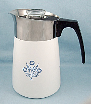 Corning Ware, Blue Cornflower, 6-cup Coffee Pot
