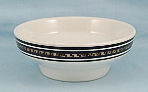 Jackson China, Paul Mccobb - Cereal Bowl, Black Greek Key