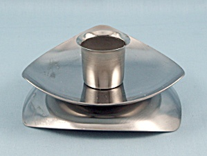 Avon Stainless Candlestick, Triangle