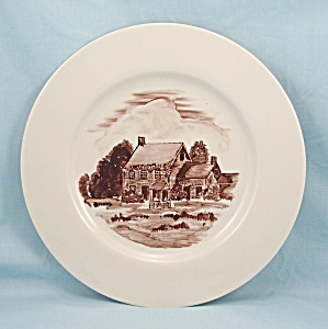 Walt Whitman's Birthplace - Hand Painted Plate By Buzz Kent