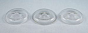 5 - Clear Glass Canning Jar Lids, For Wire Bail Jars