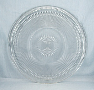 Jeannette Glass, Anniversary 10 Inch Cake Plate, Footed