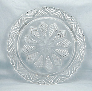 Star/ Snowflake, Low Footed Cake Plate
