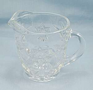 Anchor Hocking Glass Co. - Early American Prescut – Cream Pitcher (Image1)