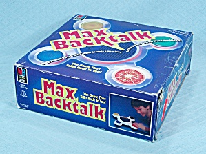Max Backtalk Game, Milton Bradley, 1986