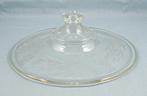 Vintage Pyrex 167 - Etched Lid - 6-1/4 Inches, Round