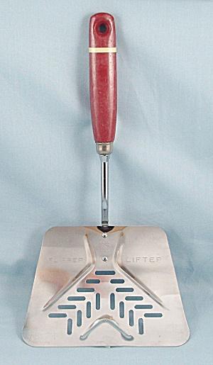 Ekco/ A & J – Flipper Lifter – Red Wood Handle (Image1)