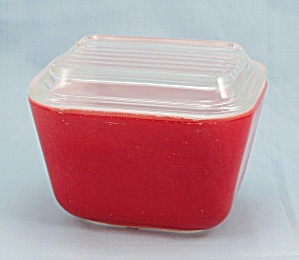 Pyrex Primary Red Refrigerator Dish & Lid