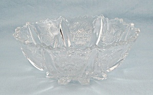 Higbee Glass, Paneled Thistle Pattern - 6-inch Bowl