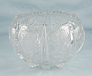 Higbee Glass - Paneled Thistle Pattern, Rose Bowl (Image1)