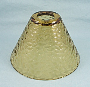 Amber Glass Shade, Textured, Cone Shaped
