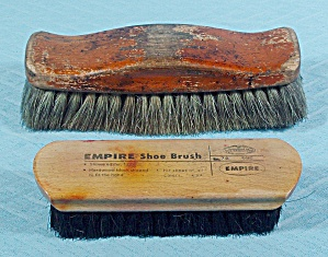Two - Vintage Empire Shoe Shine Brushes