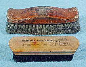 Two - Vintage EMPIRE Shoe Shine Brushes (Image1)