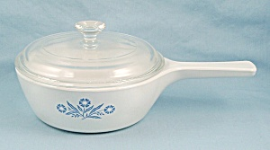 Corning, Blue Cornflower P-81, 1 Pint, Menu-ette, Covered Saucepan