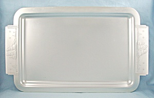 Kensington Ware Aluminum Serving Tray, 1948 - Clipper Ship / Nautical