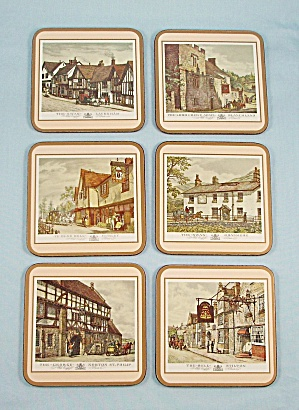 6 Coasters by Pimpernel, England - Old English Inns (Image1)