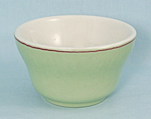 Sterling Bouillon, Green With Red Trim