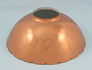 Metal Lamp Shade, Copper Color/ White Interior