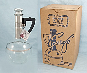 1952 Inland Glass Carafe/ Original Box