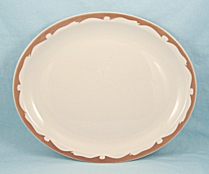 Buffalo China - Tan Crest Platter