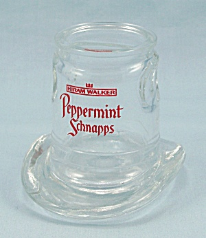 Hiram Walker Peppermint Schnapps - Top Hat Shot Glass