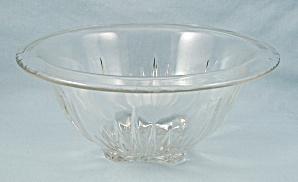 Star-clear, Federal Glass, Rolled Rim, Mixing Bowl