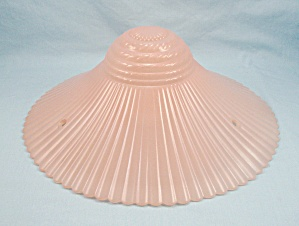 Petalware, Mauve Glass Ceiling Light Shade, Three Chain, Ribbed, Macbeth-evans