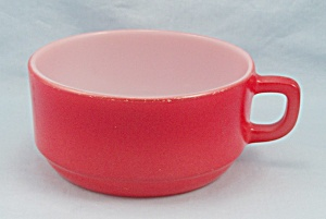 Red Soup Mug - Anchor Hocking 303