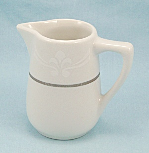 Mayer Creamer - White, Gold Trim, Decorated