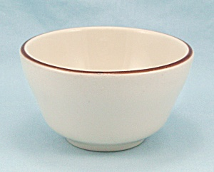 Buffalo China, Bouillon Soup Bowl - Brown Rim Stripe, Restaurant Ware