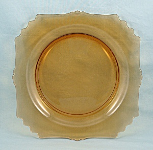 Amber Luncheon Plate – Fancy Square (Image1)