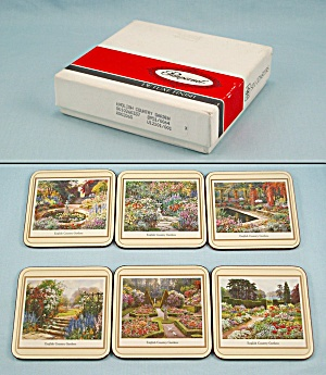 6 Coasters By Pimpernel, England - English Country Garden