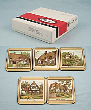 5 Coasters By Pimpernel, England - English Cottages