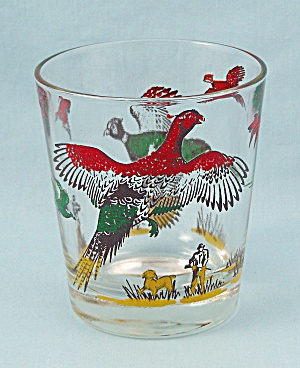 Pheasants - Old Fashioned Tumbler, Multi-color, With Hunters
