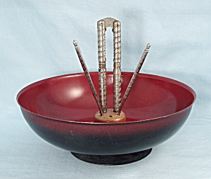 Metal, Pedestal - Nut Bowl, Cracking Tools
