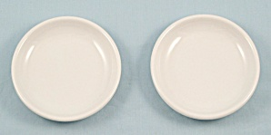Two – Metlox - Poppytrail – White Coasters	 (Image1)