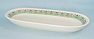 Warwick Relish Tray - Green & Pink