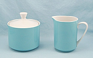 Mikasa, Cera Stone - Focus Blue, 2995 - Sugar & Cream Pitcher