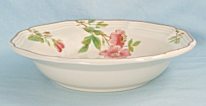 Mikasa - Rose Petals - Rim Soup Bowl, Floral Border