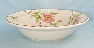 Mikasa - Rose Petals - Round Vegetable Bowl, Floral Border