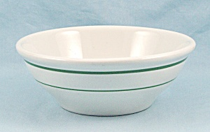 Mayer China - 1954 Chili / Soup Bowl, Green Stripes