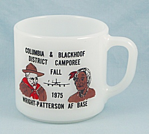 Wright Patterson Air Force Base – 1975 Boy Scout Mug, Federal Glass (Image1)