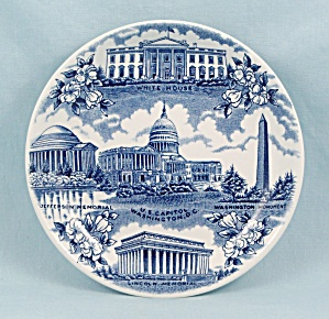 Staffordshire Ware - Souvenir/ Collector Plate, Washington D.c.