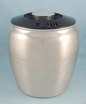 Vintage Kromex Aluminum Flour Canister (Image1)