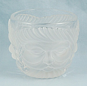 Mikasa Votive Candle Holder – Santa Face – Clear & Frosted Crystal (Image1)