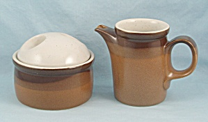 Mikasa - Buckskin- Sugar Bowl & Cream Pitcher
