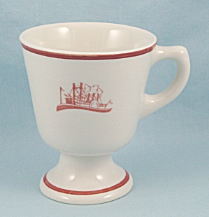 Walker China - Footed, Decorated Mug