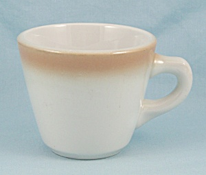 Shnenango Coffee Mug/cup, Tan Airbrushed Rim