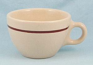 Wellsville Tan Cup, Brown Stripe